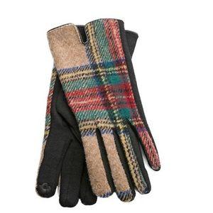 Camel Plaid Harper Gloves